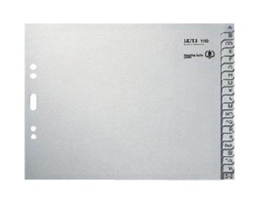 Ordneralfabet Leitz 2-gaats 1212 20-delig grijs karton