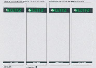 Leitz printbare zelfklevende rugetiketten 1080, korte etiketten voor brede ordners