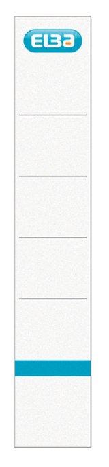 Rugetiket Elba clic 34x190mm zelfklevend wit/blauw