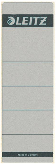Leitz zelfklevende rugetiketten 1642 formaat 58 x 190 mm., kleur grijs