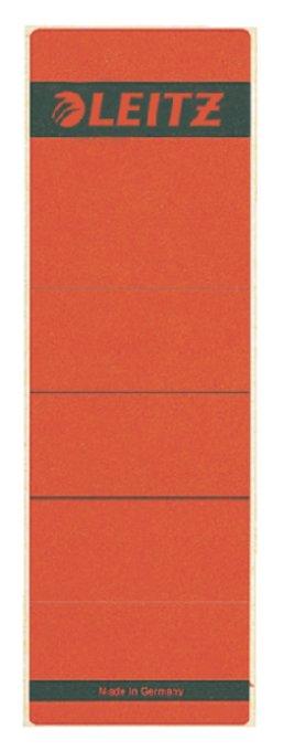 Leitz zelfklevende rugetiketten 1642 formaat 58 x 190 mm., kleur rood