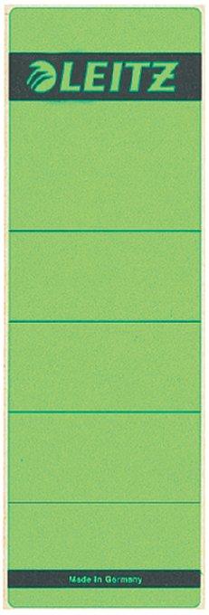 Leitz zelfklevende rugetiketten 1642 formaat 58 x 190 mm., kleur groen