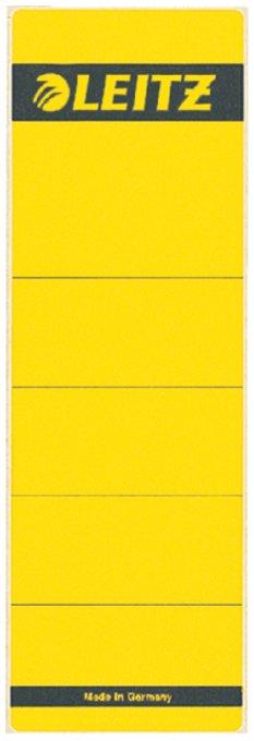 Leitz zelfklevende rugetiketten 1642 formaat 58 x 190 mm., kleur geel