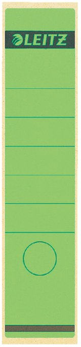 Leitz zelfklevende rugetiketten 1640 formaat 58 x 290 mm., kleur groen