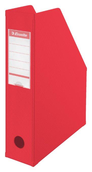 Tijdschriftcassette Esselte Vivida opvouwbaar rood