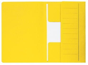 Dossiermap Jalema Mammoet folio 3 kleppen 270gr geel