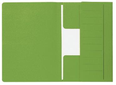 Dossiermap Secolor Mammoet folio 3 kleppen 270gr groen