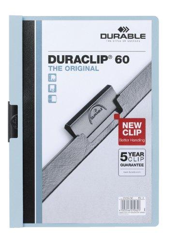 Klemmap Durable Duraclip A4 6mm 60 vellen blauw