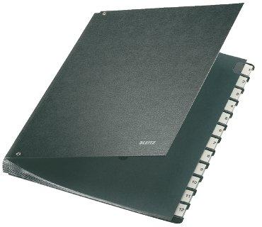 Leitz sorteermap 5812 indeling 1 - 12, kleur zwart, voor formaat A4