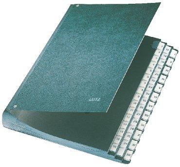 Termijnmap Leitz 1-31 + I-XII 270x50x345mm hardboard zwart