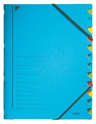 Sorteermap Leitz 12 tabbladen karton blauw