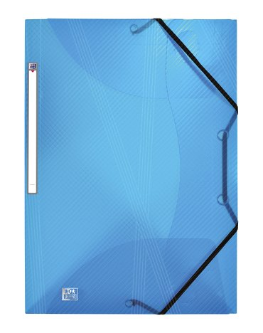 Elastomap Oxford Hawai A4 15mm 3 kleppen PP blauw