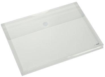 Enveloptas HF2 A4 330x250x30mm dwars PP transparant wit
