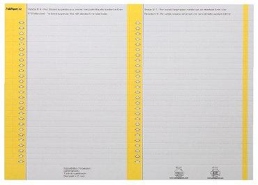 Ruiterstrook Elba Nr 8 138x6mm lateraal geel