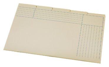 Binnenmap folio 345x232mm 5-delig geel