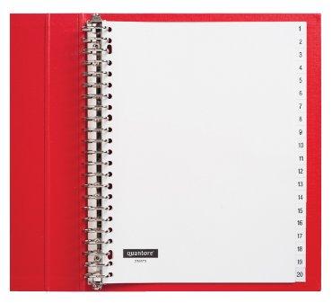 Tabbladen Quantore 23-gaats 1-20 genummerd wit PP