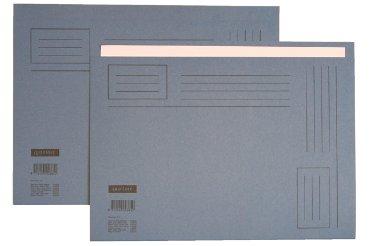 Vouwmap Quantore A4 ongelijke zijde 230gr blauw