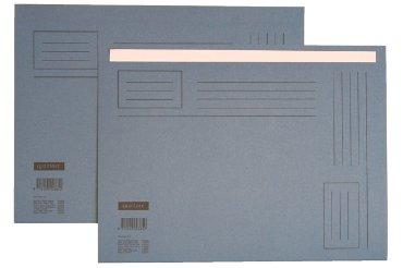 Vouwmap Quantore Folio ongelijke zijde 230gr blauw