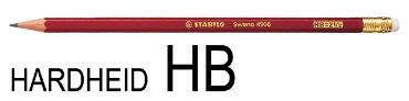 Potlood STABILO grafiet Swano 4906 HB met gumtip
