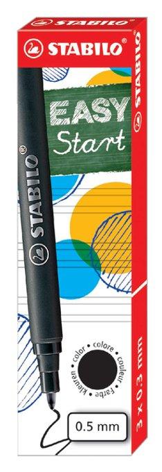 Rollerpenvulling STABILO Easyoriginal 0.5mm zwart doosje à 3 stuks