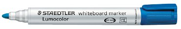 Viltstift Staedtler 351 whiteboard rond blauw 2mm