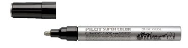 Viltstift PILOT Super SC-S-M lakmarker rond zilver 2mm