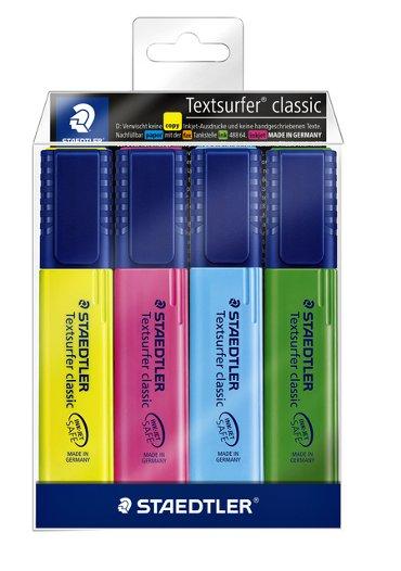 Markeerstift Staedtler 364 Textsurfer assorti 4stuks