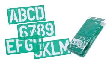 Lettersjabloon Linex 100mm hoofdletters/letters/cijfers