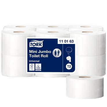 Toiletpapier Tork T2 110163 1laags 240m 1200vel 12rollen