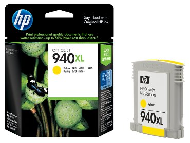 Inkcartridge HP C4909AE 940XL geel HC