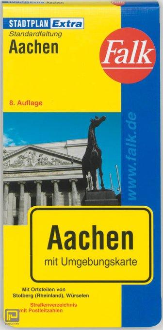 Falk Stadtplan Extra Standardfaltung Aachen 1:19 500