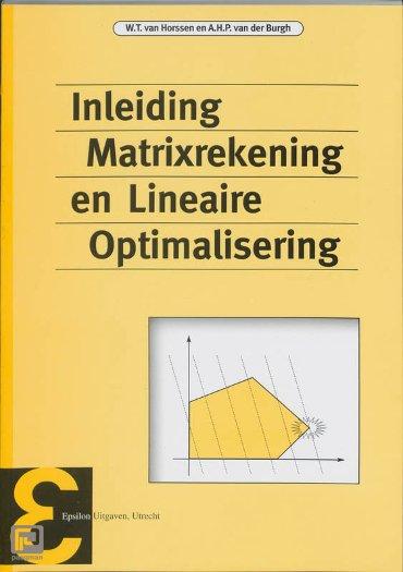 Inleiding matrixrekening en lineaire optimalisering - Epsilon uitgaven