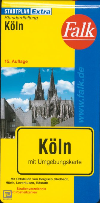 Falk Stadtplan Extra Standardfaltung Köln 1 : 20 000