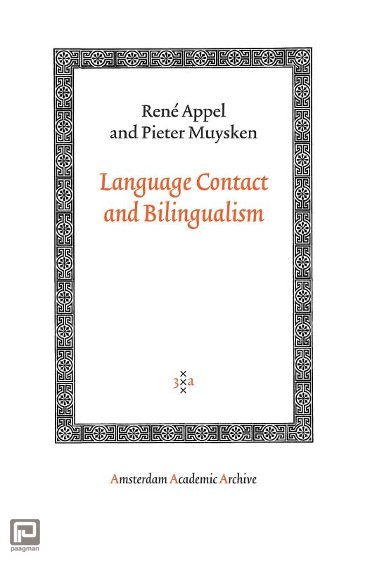 Language Contact and Bilingualism - Amsterdam Academic Archive