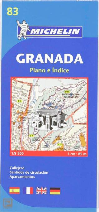 Granada - Michelin City Plan 83 - Michelin Stadsplattegrond
