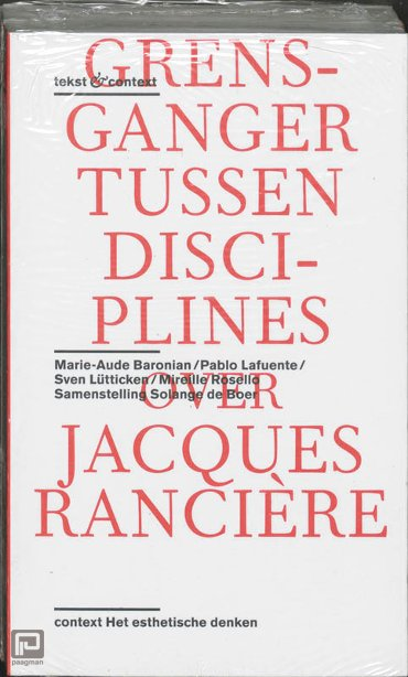 Jacques Ranciere set a 2 ex - Tekst & context