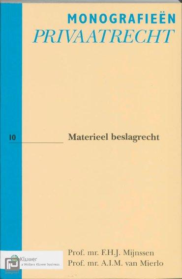 Materiëel beslagrecht - Monografieen Privaatrecht