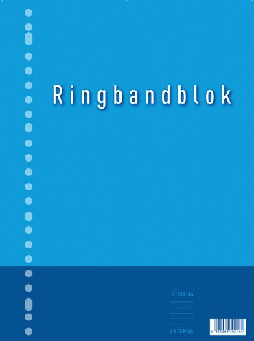 Ringbandblok A4 23-gaats ruit 10mm