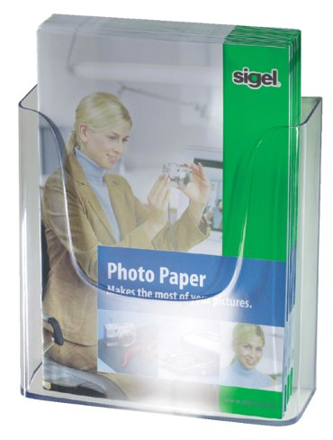 Folderhouder Sigel LH115 1xA4 wand transparant