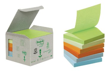 Memoblok 3M Post-it Z-Note R330-1GB 76x76mm recycled rainbow