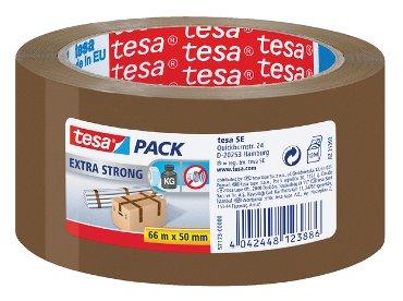 Verpakkingstape Tesa 50mmx66m bruin extra sterk
