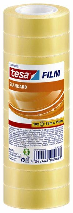 Plakband Tesa film standaard 15mmx33m krimp 10rollen