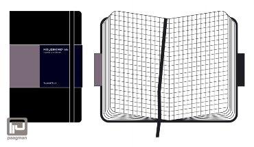 Moleskine notitieboek pro werkboek A4 hard cover zwart geruit