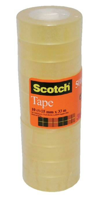 Plakband Scotch 550 15mmx33m transparant krimp 10rollen