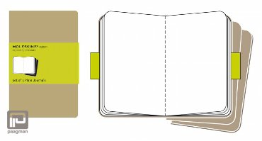 Moleskine cahier journaal pocket bruin blanco
