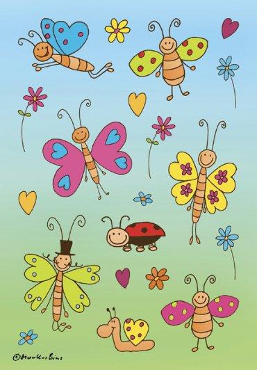 Etiket Herma fladerende vlinders