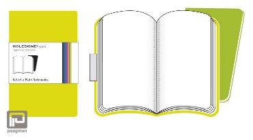 Moleskine notitieboekje volant A7 groen blanco