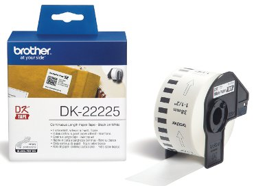 Etiket Brother DK-22225 38mm thermisch 30-meter wit papier