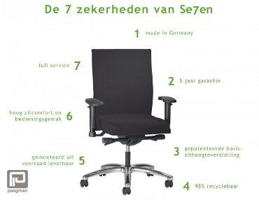 Interstuhl bureaustoel, model Prosedia Se7en, kleur zwart met netbespanning