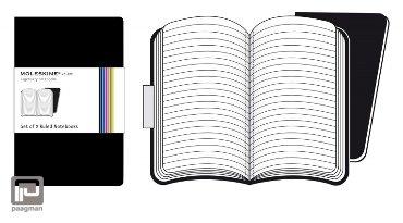 Moleskine notitieboekje volant pocket zwart gelinieerd
